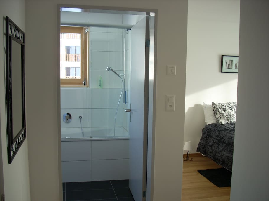 Entrance to master-bedroom with en-suite bathroom