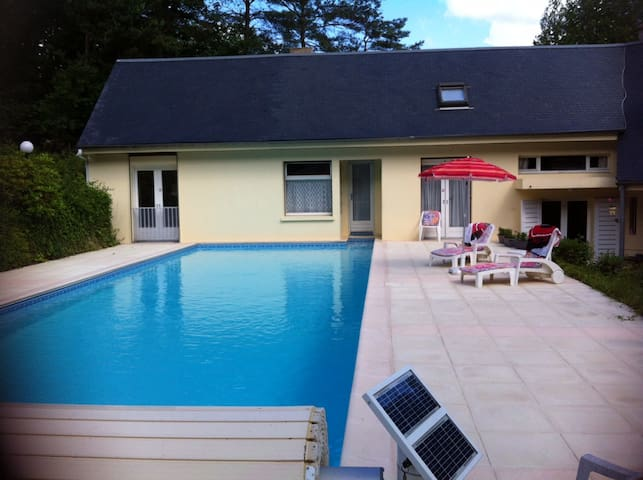 Room in the forest and swimmingpool - Oncy-sur-École - Bed & Breakfast