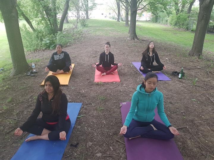 meditation ( indoor for online retreat)
