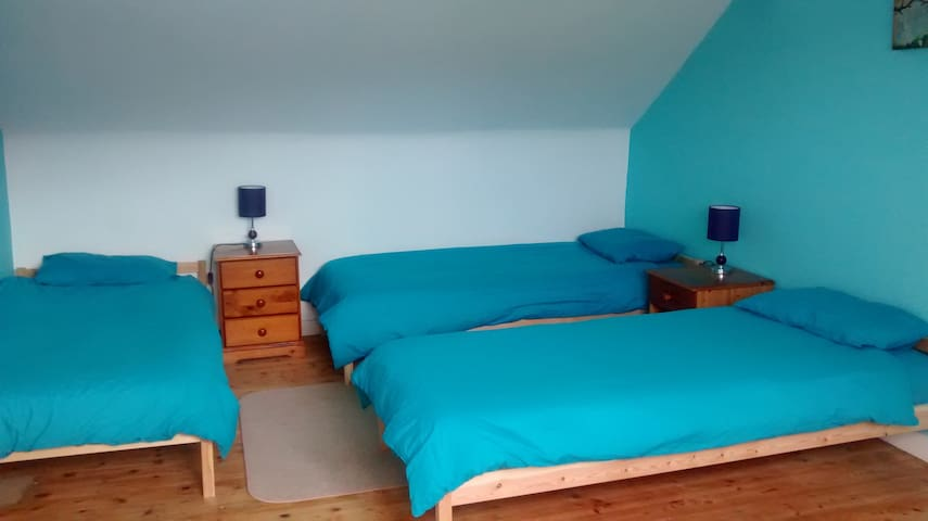 Three bed attic room near Snowdonia.