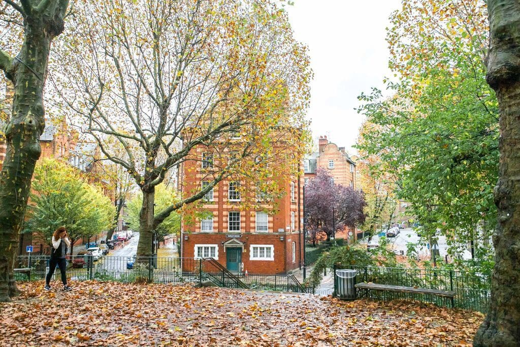 Street view from Arnold Circus (10m from apartment)