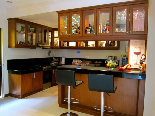 Bar and Kitchen Area