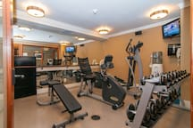 A well-equipped fitness room allows you to stick with your exercise regime