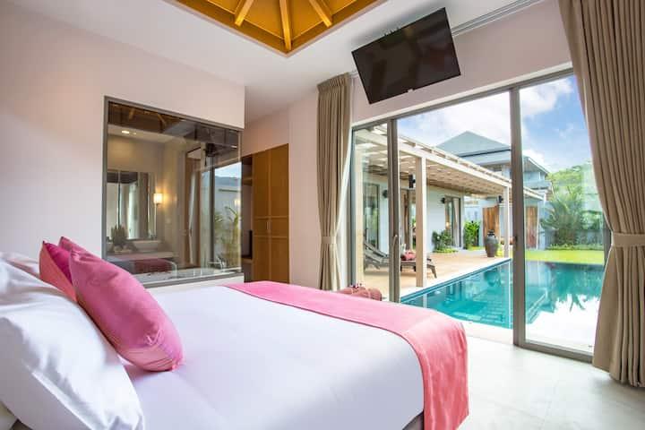 精品度假村天然水泳池别墅♒卡马拉