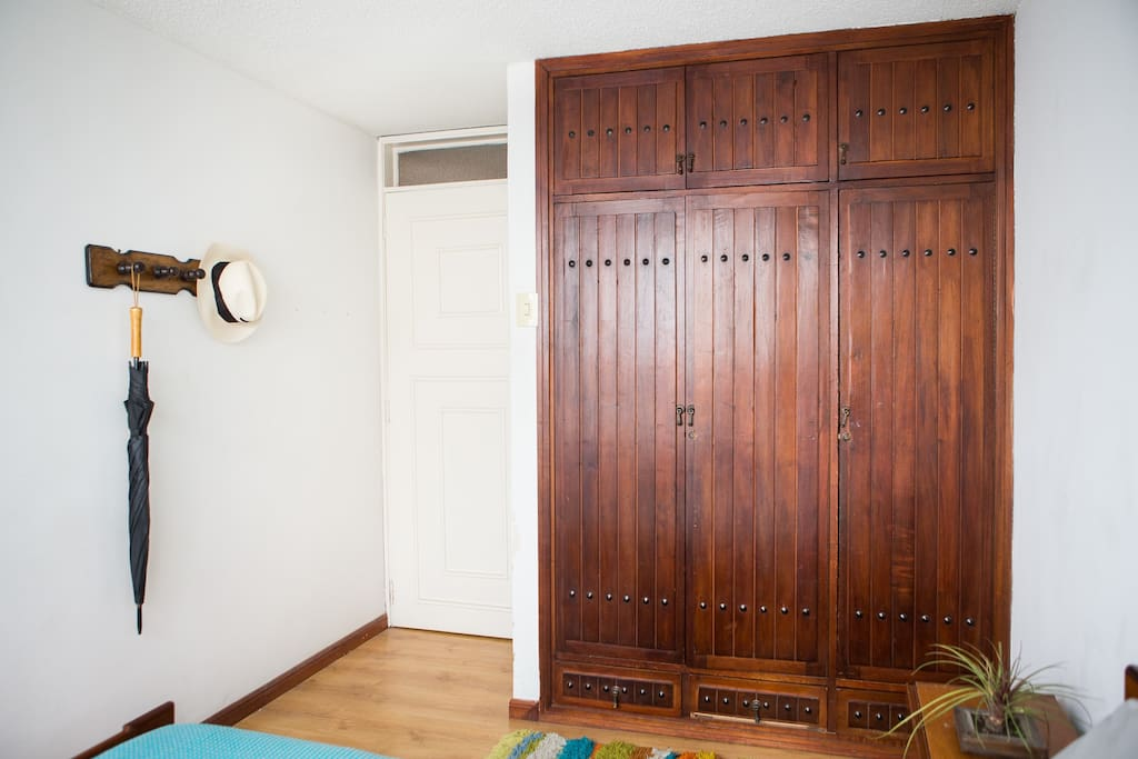 Large closet for all your things.
