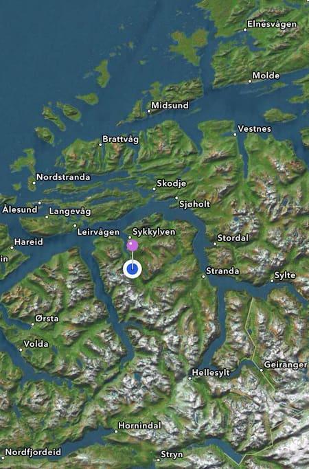 We live here on the West Cost of Norway surrounding by fjords and mountains.
