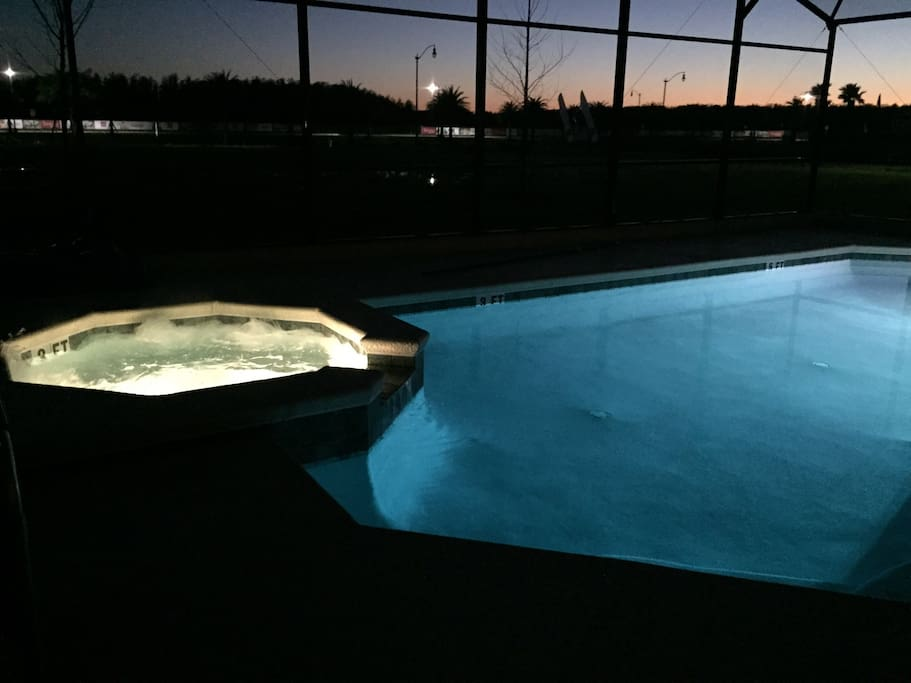 Enjoy nighttime at the jacuzzi or heated pool.