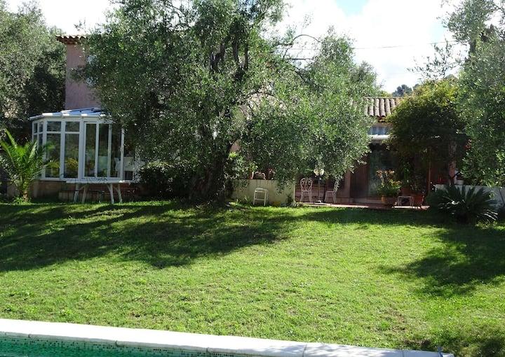 Villa piscine dans les oliviers