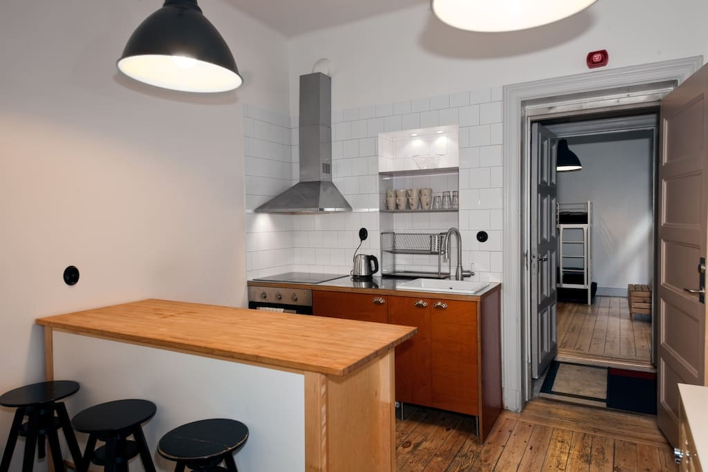 Well equipped kitchen in apartment Birka