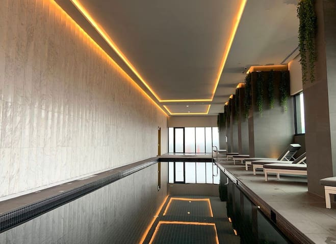 The modern room with private bathroom in Sky one