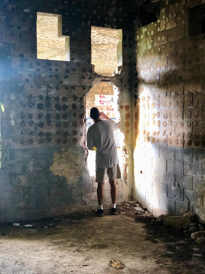 Inside the abandoned Navy buildings