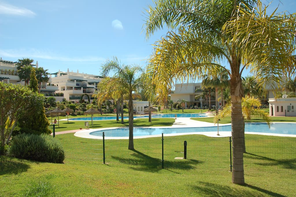 The complex has 2 large pools.