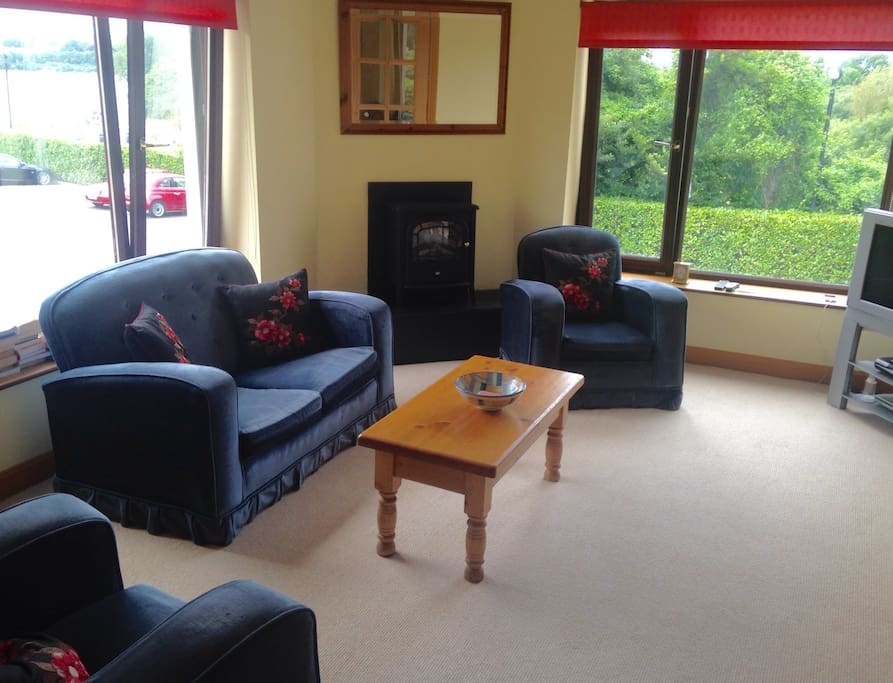 Living room over-looking Cork Harbour