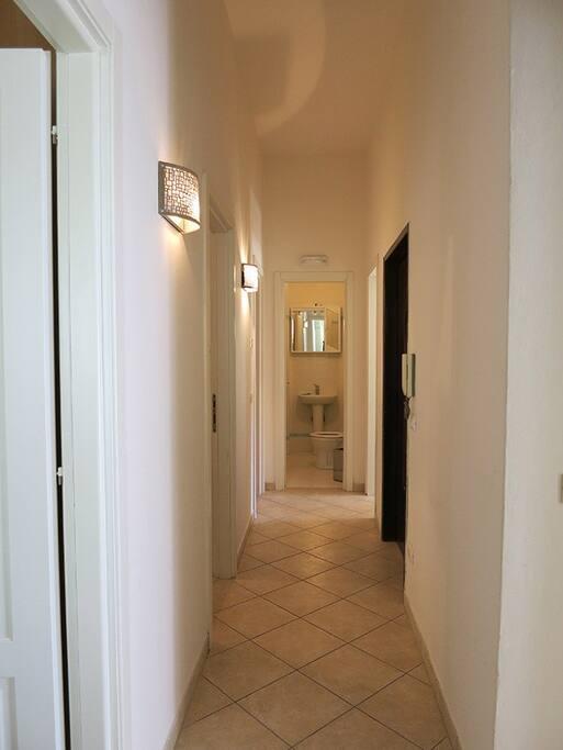Il corridoio dell'appartamento