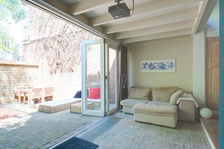 A modern & great apartment + garden