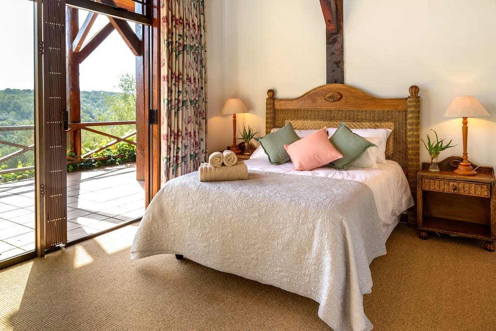 Heaven Room with Double bed and forest and mountain views
