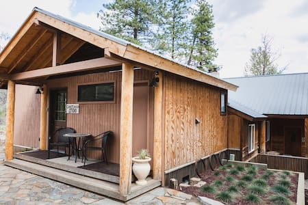 The Courtyard Studio in the Bournhouse is a private and cozy one bedroom getaway. Peaceful and homey- it is great for couples or solo traveling. Situated in a home on the banks of the Chewuch River, and only steps away from downtown Winthrop.