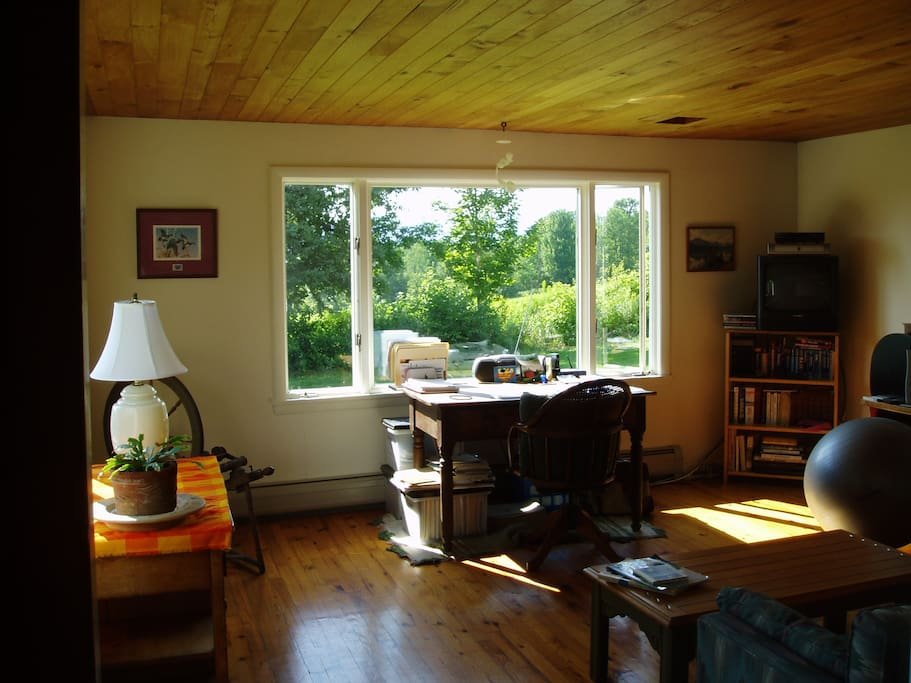 Living room with view of Camel's Hump