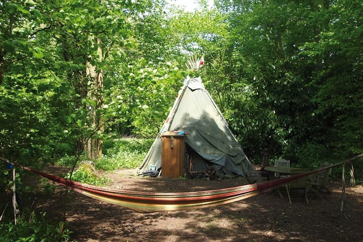 Indian 'Off Grid' Tipi Camping - Loddon Mill Arts - Loddon - Tipi