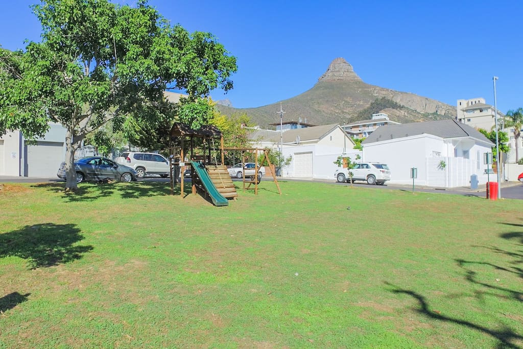 View of lions head from entrance to the house