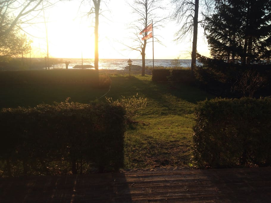 View from the cottage's front deck, does it get better? You'll see some amazing sunsets!