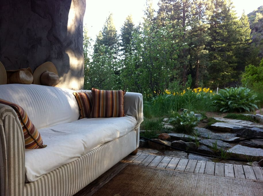 The outdoor living room. The best place to sit in the late afternoon sun...