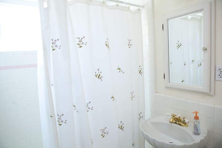 Bathroom for yourself! You do not share with us or other guest.