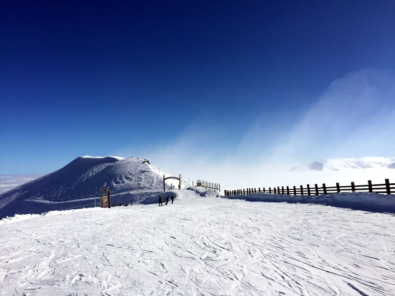 Here's the summit of Mt Hutt skifield. Ski every day here or at Porter Heights.