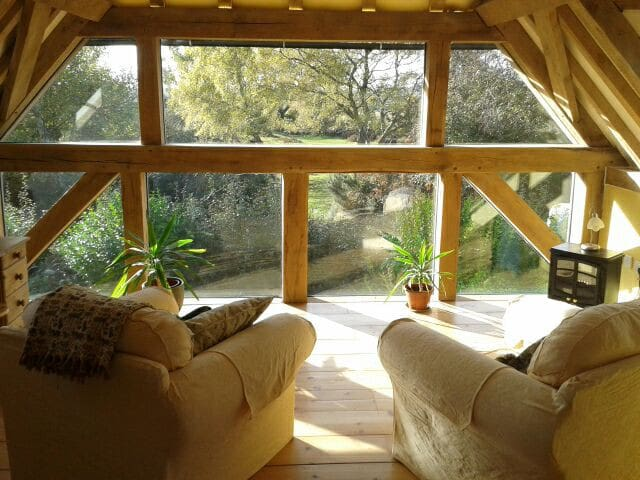 Oak Framed New Forest Room with Amazing Views - West Wellow - Casa