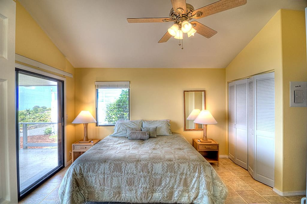A large spacious Bedroom with incredible views