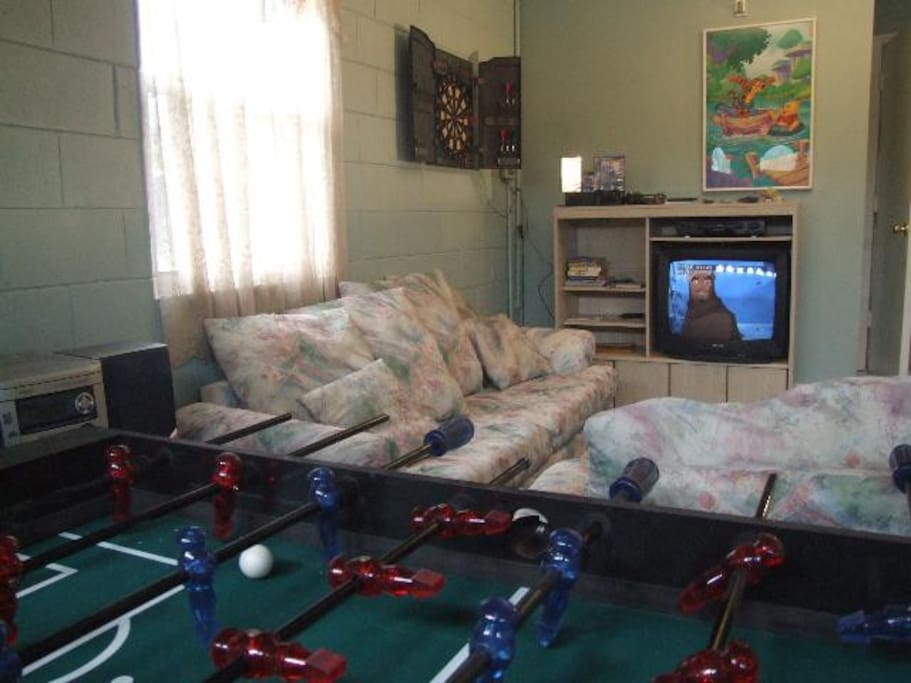 Foosball and PS2 Game Room