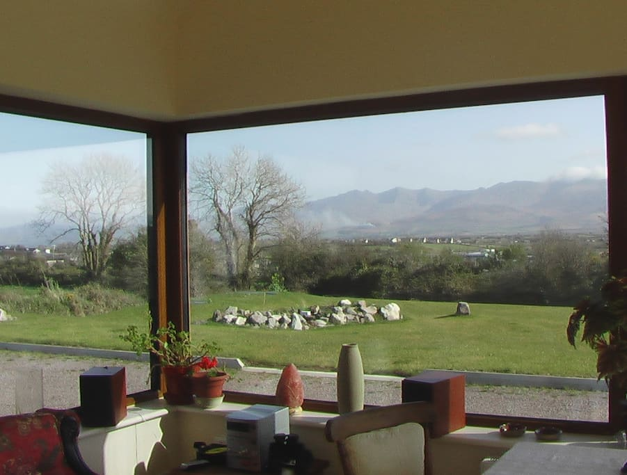 View from the conservatory, where you are free to sit and enjoy!