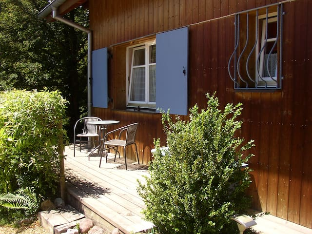 Bright en-suite room with patio and parking space - Ribeauvillé - Huis