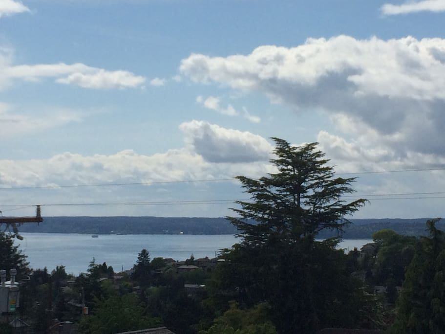 View of Puget Sound from our roof deck!