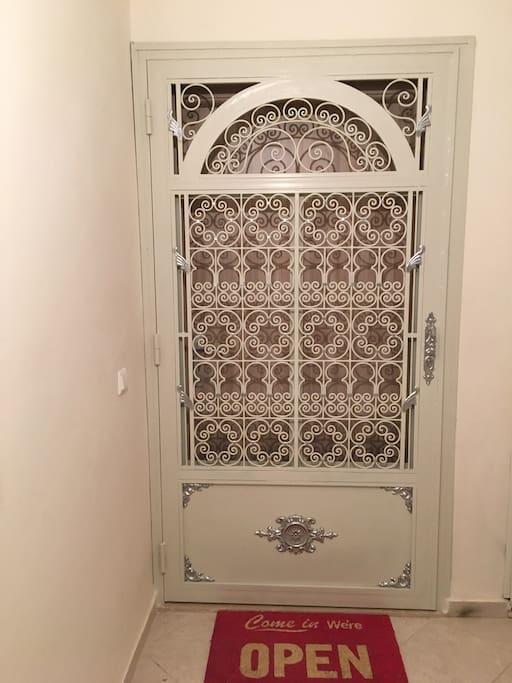 Porte entrée style traditionnel marocain