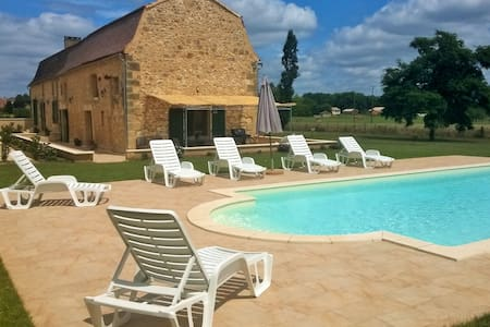 Beautiful renovated farmhouse with private pool - Lanquais