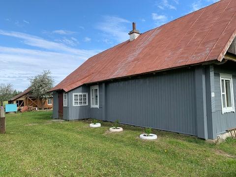 Echter Bauernhof in der Nähe der Blauen Seen Хутор возле озёр
