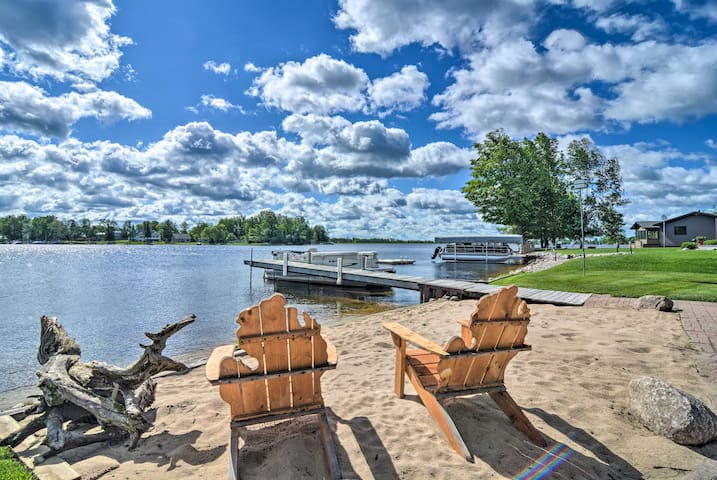 NEW! Large Waterfront Cottage w/ Boat Dock & Beach