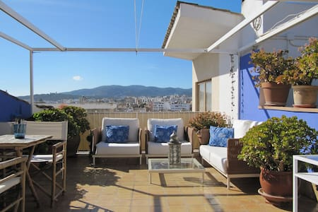 Old Town loft with terrace & views - Palma