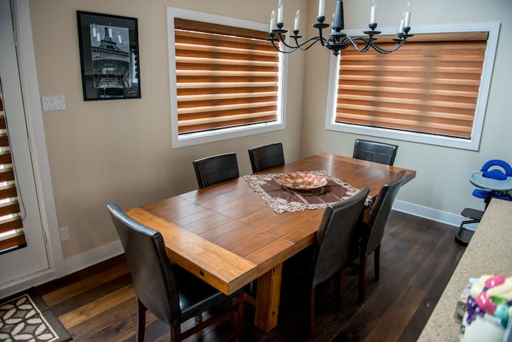 Large dining room table for 8