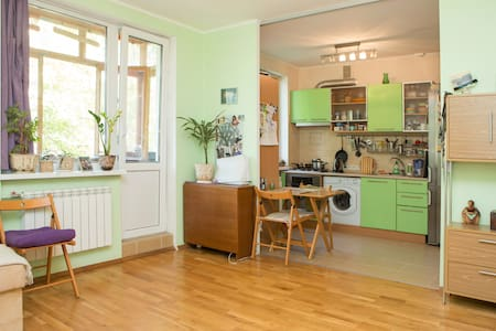 Cozy&nice apartment in a green area - Kiev - Apartemen