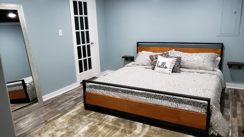 NEW in 2020! KING bedroom in the lower level.