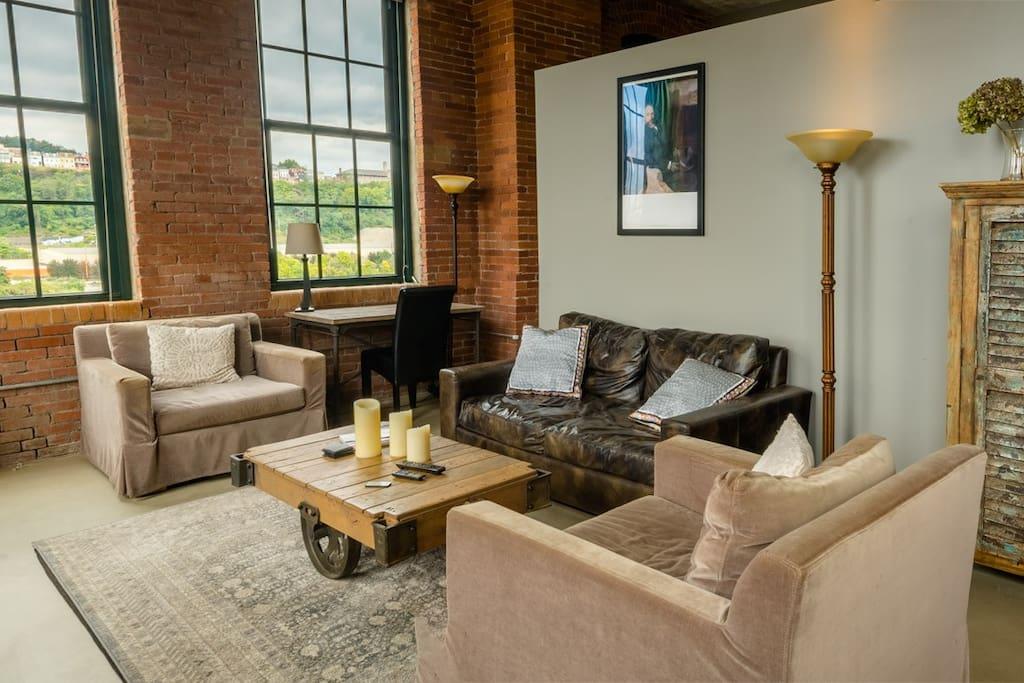 Exquisitely furnished, featuring Restoration Hardware furniture.