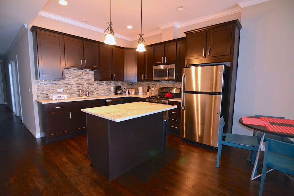Perfect place to whip up a delicious meal!  Large counter and island space, fully equipped kitchen!