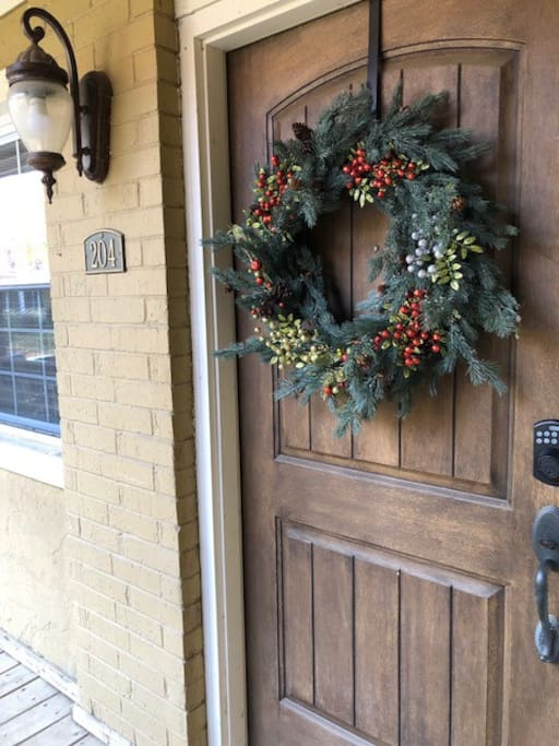 Your Home for the Holidays!  Personalized coded front door access.