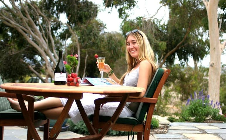 Enjoy breakfast on the patio or just lazing there with a glass of champagne and a magazine.