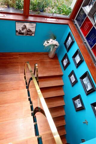 Descente d'escalier