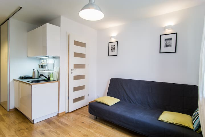 Bright Studio in great location free WiFi