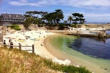 Lovers Point Beach, an easy 8 minute walk from our house