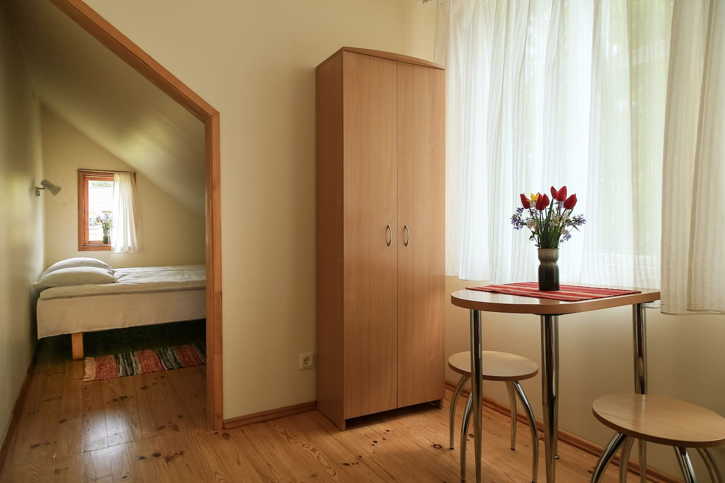 Room #1 - a mini-appartment consisting of two small rooms, sleeps 3-4 people